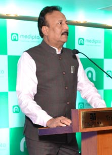 2.Minister of State,Food & Druggs Adminstration Madan Yerawar Launched Medipta Solutions while announceing MSCDA & Madipta collaborating in Mumbai today