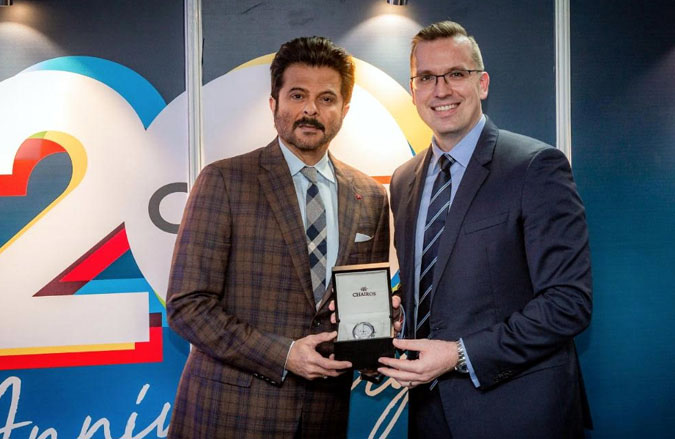 Anil Kapoor with Clobal CEO of QNET