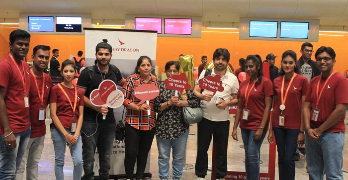 Cathay Dragon celebrates 10 years of passenger flight operations from Bengaluru to Hong Kong_Pic 02