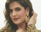 Actress Zareen Khan wearing brand Kalki for a wedding in Mumbai