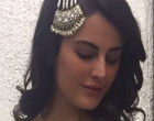 Mandana Karimi wearing KALKI Fashion & Shillpa Purii Jewellery for an event in Mumbai