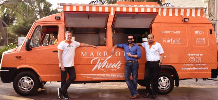 Image 1 -Marriott On Wheels was unveiled today with Craig Smith, President and Managing Director, Asia Pacific, Marriott International, Mr. Naeeraj Govil, Area Vice