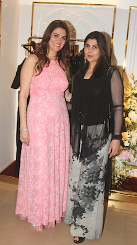 Rebeccan Dewan and Ayesha Patel at the store launch of the Rebecca Dewan couture label