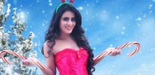 Actress Rehaa Khann turned into hot and Sexy Santa