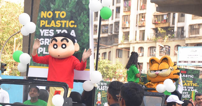 Say No to Plastic walk organized by Inorbit Mall in association with Green Yatra